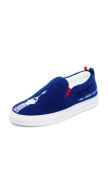 Joshua Sanders Paris Slip On Sneakers