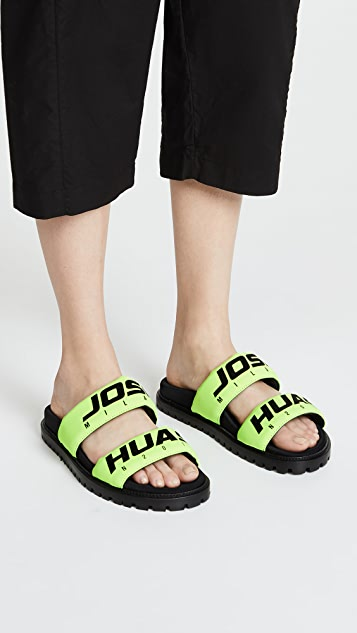 Joshua Sanders Racing Slide Sandals