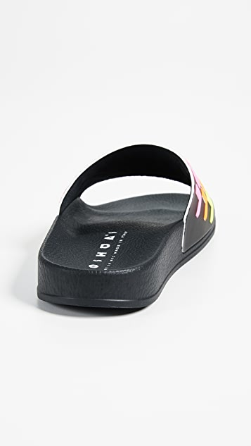 Joshua Sanders Racing Beach Slide Sandals