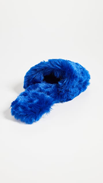Joshua Sanders Pop Faux Fur Slides