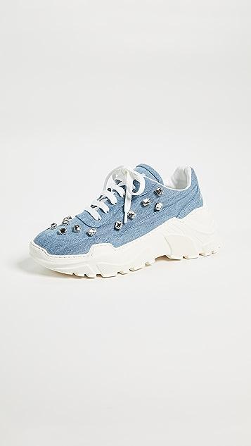 Joshua Sanders Zenith Crystal Sneakers