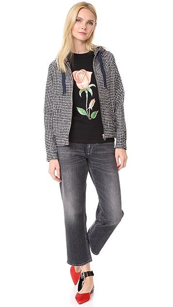 JOUR/NE Tweed Hoodie Jacket