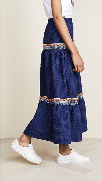 JOUR/NE Long Skirt Vichy