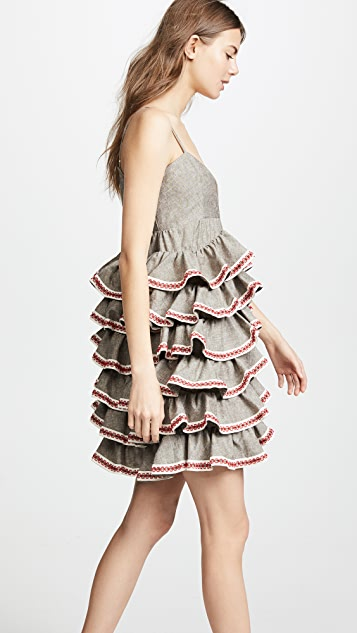 JOUR/NE Linen Ruffles Dress
