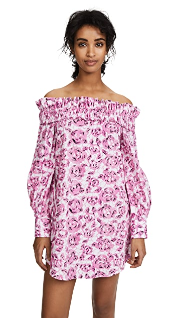Jourden Flora Off Shoulder Dress