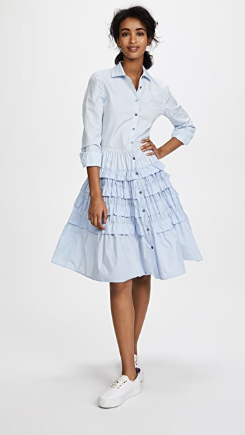 Jourden Tiered Shirtdress