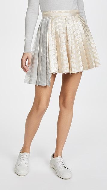 Jourden Gel Asymmetric Skirt - Champagne Multi