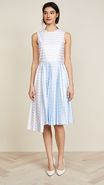Jourden Gel Asymmetric Dress - White Multi