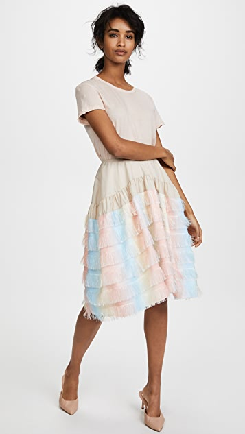 Jourden Unicorn Gathered Knee Skirt