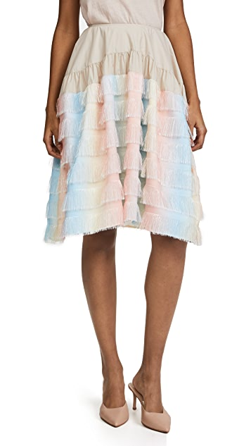 ... Jourden Unicorn Gathered Knee Skirt