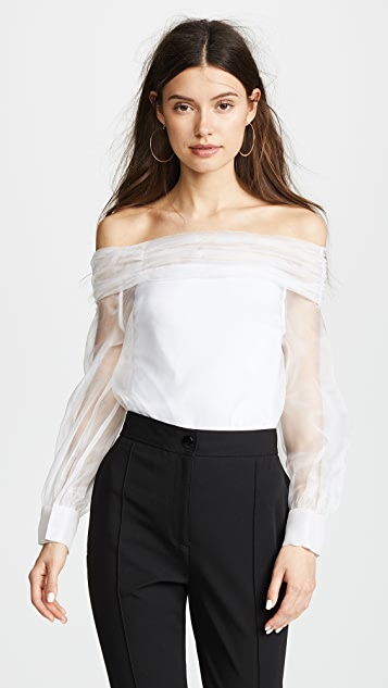 Jourden Organza OTS Top