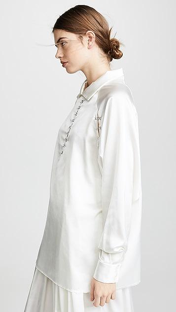 Anais Jourden Атласная блуза-ветровка