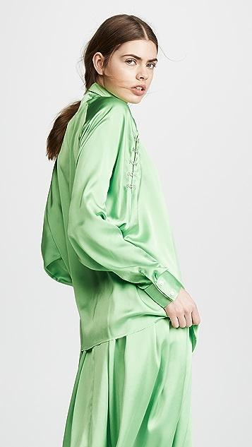 Anais Jourden 缎面防风女式衬衫