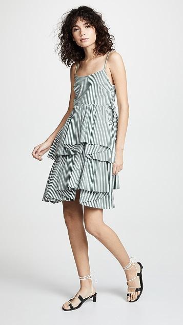 Jourden Striped Asymmetric Dress