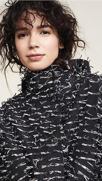 Anais Jourden Silver Foil Confetti Parka Jacket