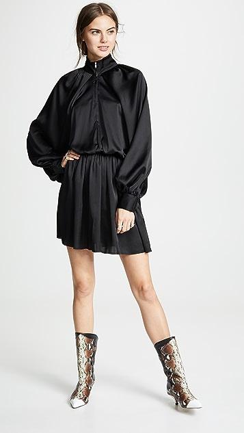 Anais Jourden Мини-платье Windbreaker из атласа