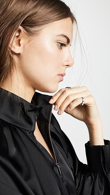 Anais Jourden Satin Windbreaker Mini Dress