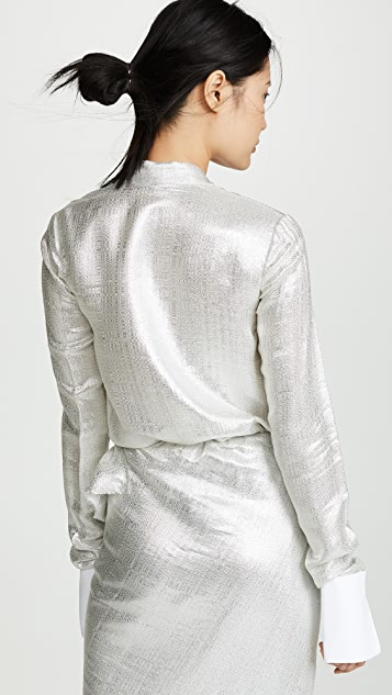Jourden Silver Pleated Blouse