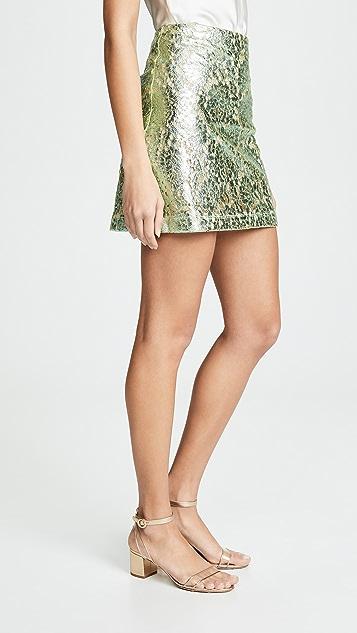 Anais Jourden Металлизированная мини-юбка