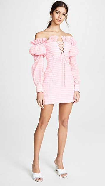 Jourden Striped Lolita Off Shoulder Dress