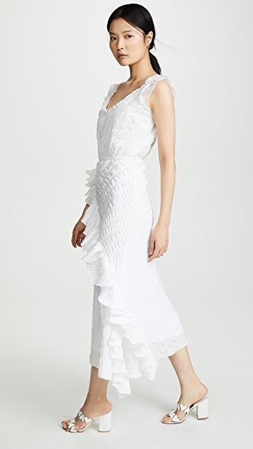 Anais Jourden Многослойное платье-комбинация с оборками