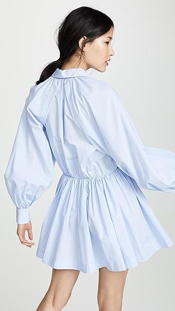 Anais Jourden Blue Striped Shirtdress