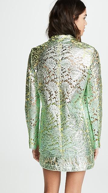 Anais Jourden Metallic Lame Lace Blazer