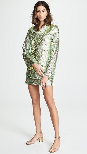 Anais Jourden Кружевной блейзер из металлизированной ткани ламе