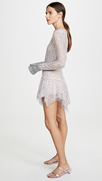 Anais Jourden Duo Lace Mini Dress