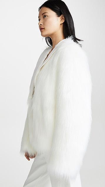 Anais Jourden Блейзер White из искусственного меха