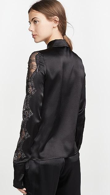 Anais Jourden Black Silk Satin Shirt
