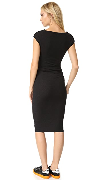 James Perse Sleeveless Tucked Dress
