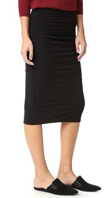 James Perse Shirred Tube Skirt