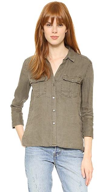 James Perse Pocket Button Up Shirt