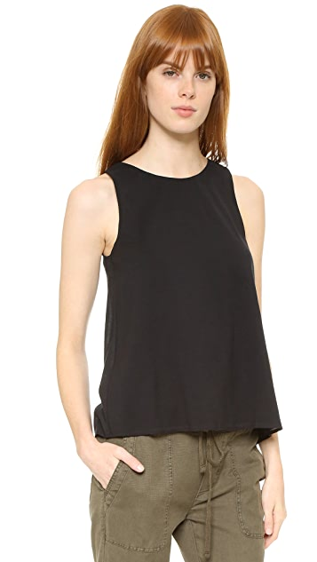 James Perse Wrap Back Tunic Top