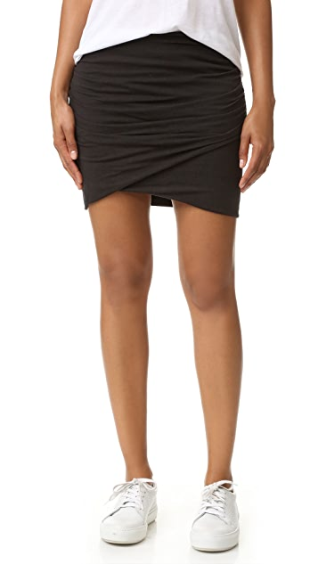 James Perse Wrap Skinny Skirt