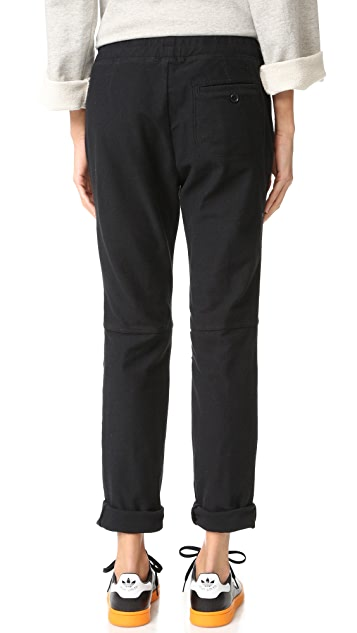 James Perse Heathered Knit Twill Pants