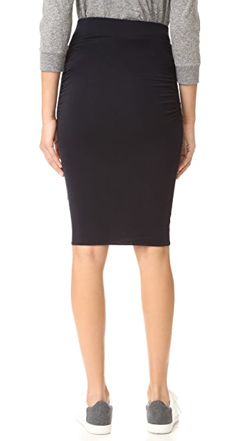 James Perse Double Shirred Skirt