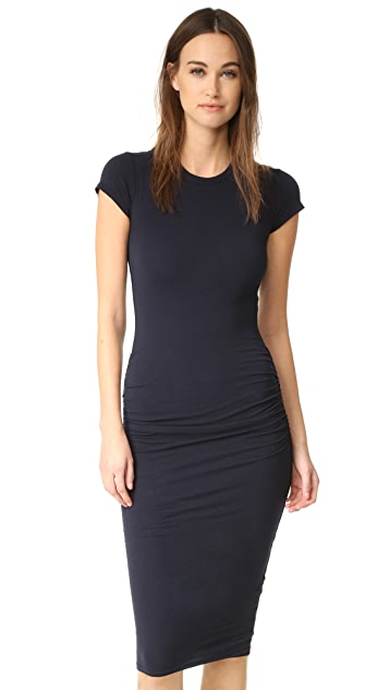James Perse Classic Short Sleeve Skinny Dress