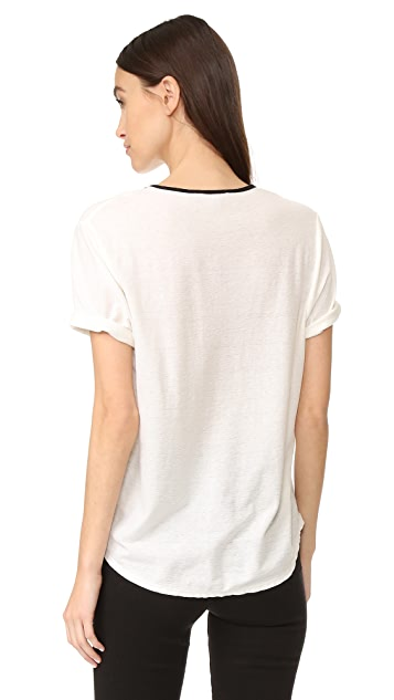 James Perse Relaxed Ringer Tee