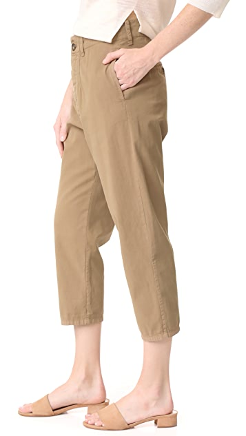 James Perse Dropped Crotch Khaki Pants