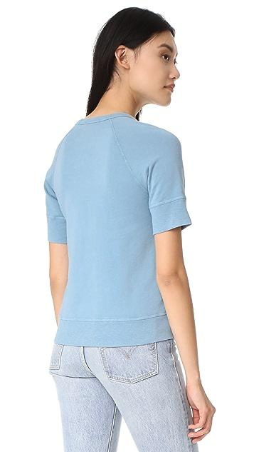 James Perse Short Sleeve Raglan Pullover