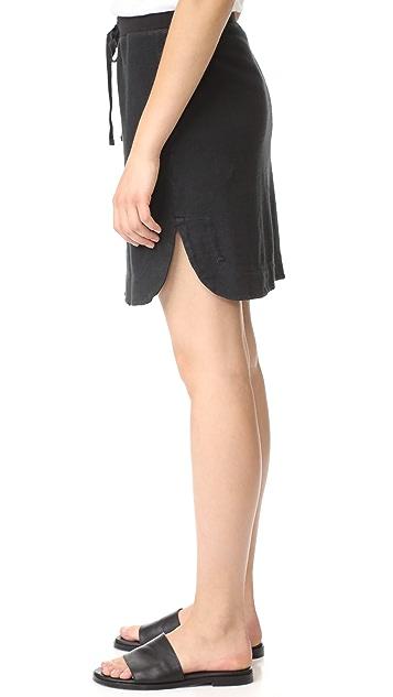 James Perse Pull On Fleece Skirt