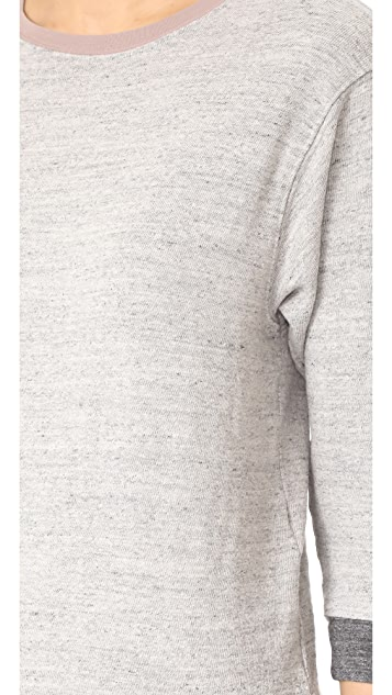 James Perse Shrunken Contrast Sweatshirt