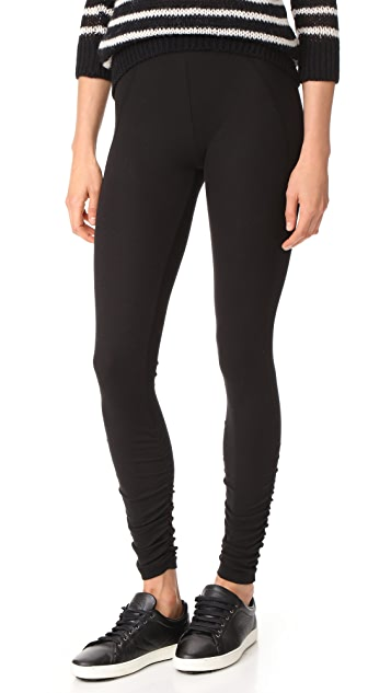 James Perse Ruched Ankle Leggings