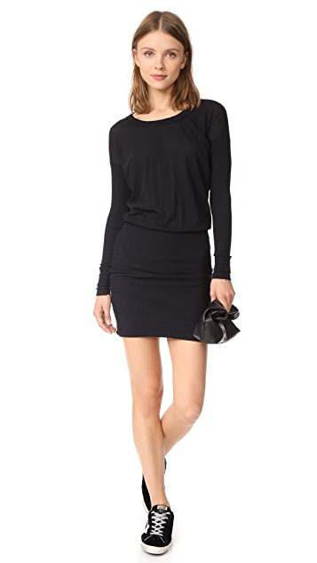 James Perse Contrast Rib Pullover Dress