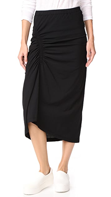 James Perse Spiral Gathered Skirt