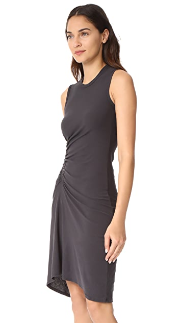James Perse Spiral Shirred Dress