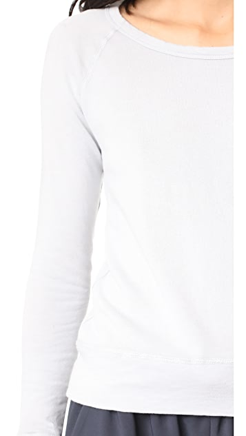 James Perse Classic Long Sleeve Raglan Sweatshirt
