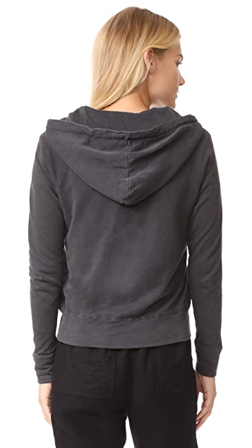 James Perse Classic Zip Up Hoodie